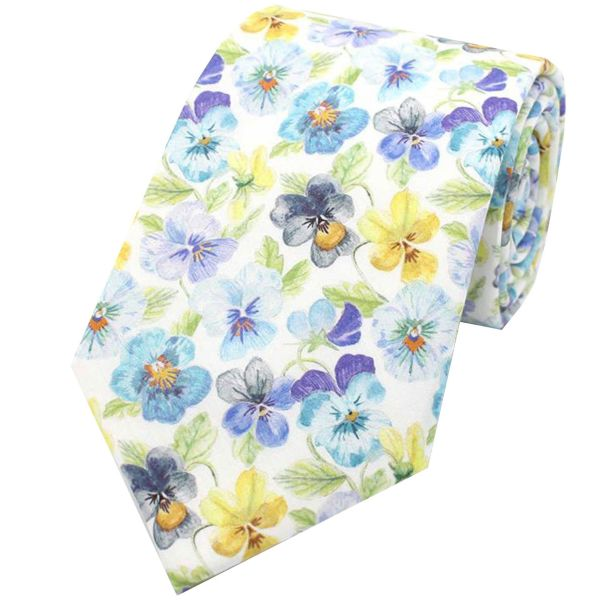Made with Liberty Fabric - Think of Me in Blue - Cotton Tie