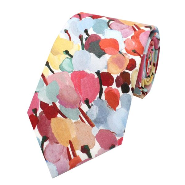 Made with Liberty Fabric - Tulip Fields - Cotton Tie