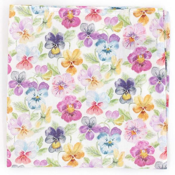 Made with Liberty Fabric - Think of Me in Pink - Cotton Hankie