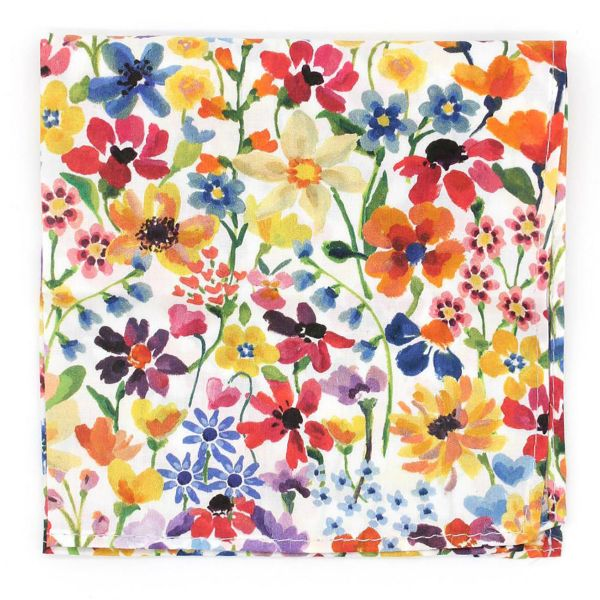 Made with Liberty Fabric - Summer Wildflowers - Cotton Hankie