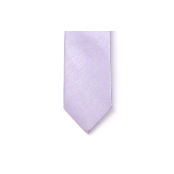 Lilac Polyester Shantung Men's Tie