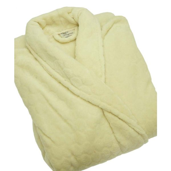 Ecru Textured Soft Robe from Waites