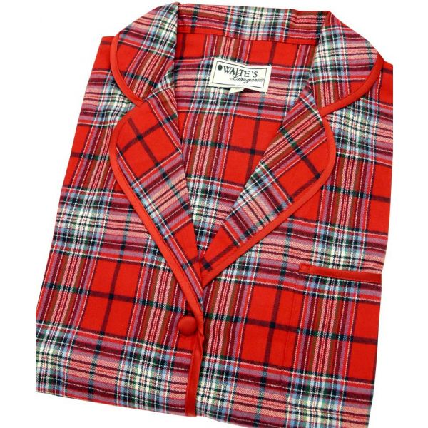 Rich Red Tartan Nightshirt from Waites