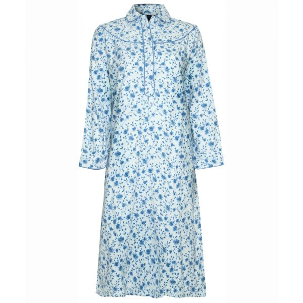 Ladies Cotton Nightdress in Blue From Champion Nightwear