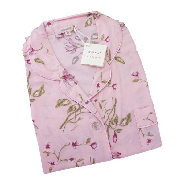 Guasch - Ladies Shortie Pyjamas - Pink Floral Design