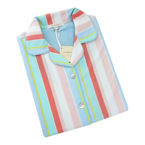 Guasch - Ladies Shortie Pyjamas - Candy Stripe Cotton