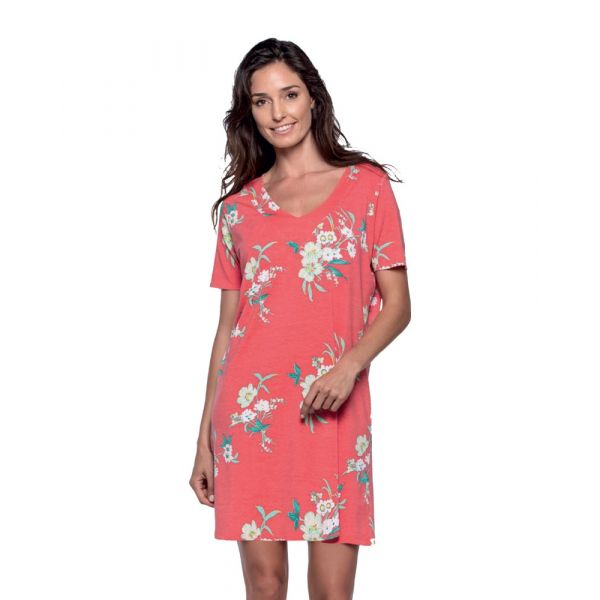 Guasch - Ladies Short Sleeve Beach Dress in Red