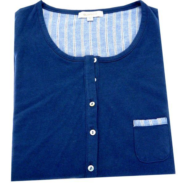 Guasch - Ladies  Jersey Top Pyjamas in Blue