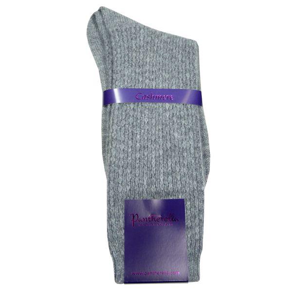 Grey Ladies Cashmere Lounge Socks