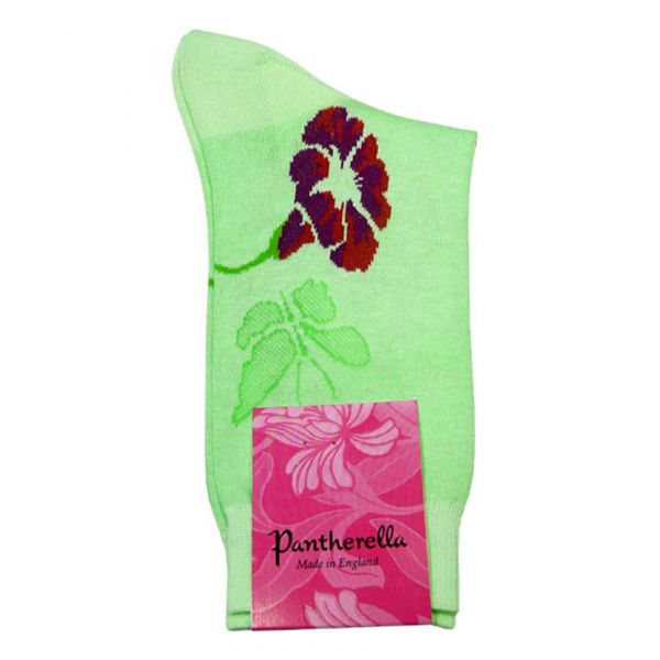 Apple Butterfly and Flowers Ladies Cotton Socks