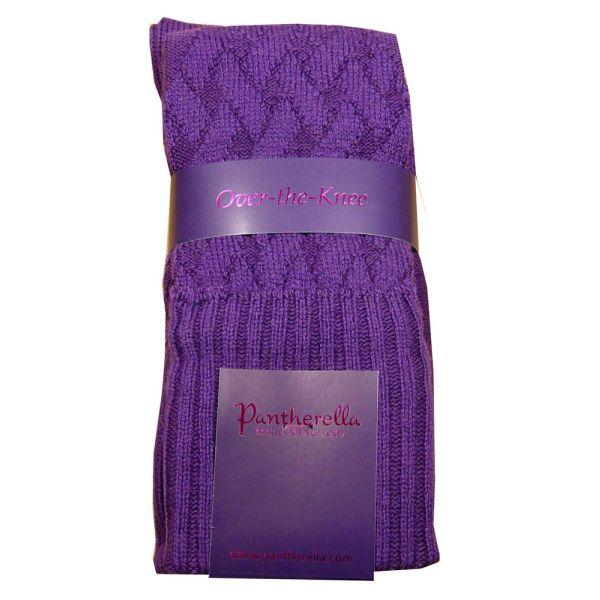Dark Purple Over the Knee Ladies Wool Socks