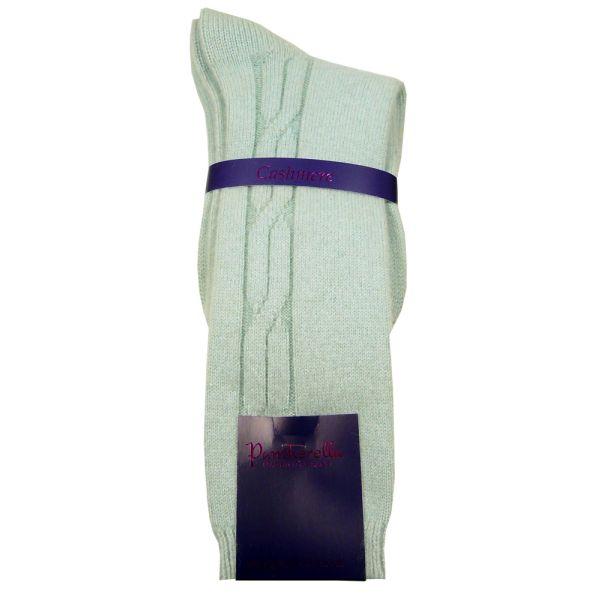 Ice Blue Cashmere Ladies Socks