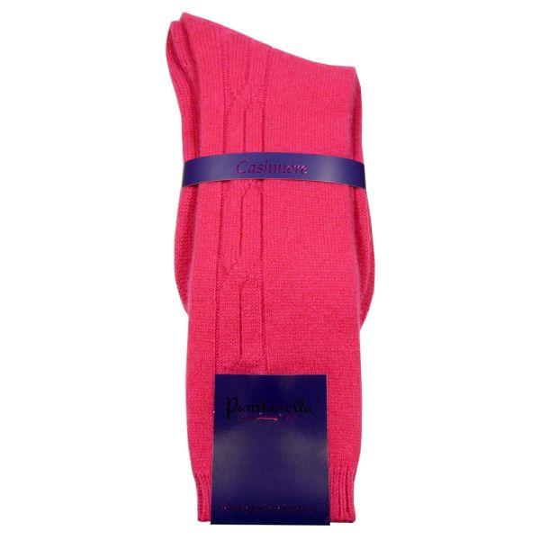 Hot Pink Cashmere Ladies Socks