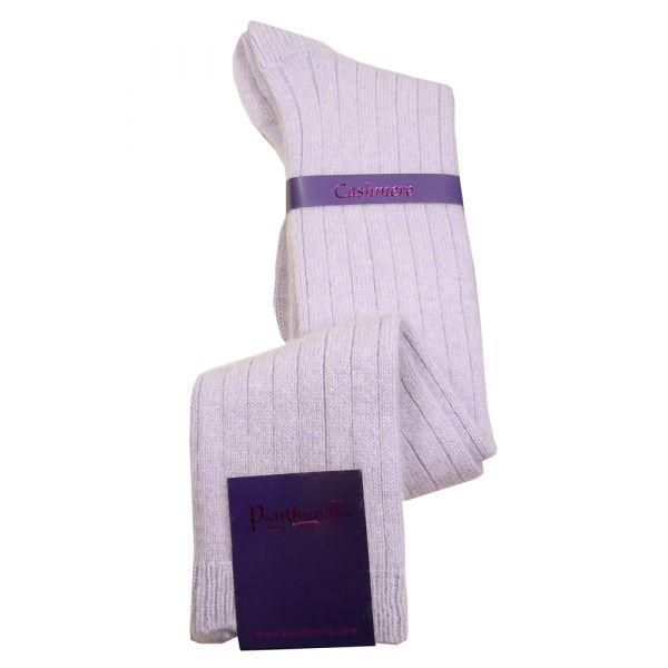 Lavender Ladies Long Cashmere Socks - Tabitha Long