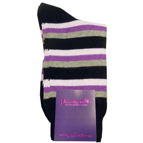 Black Multi Stripe Egyptian Cotton Socks