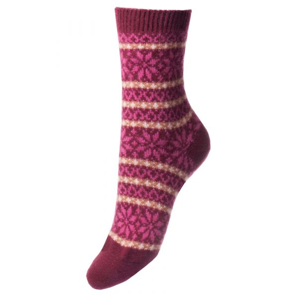 Port Nordic Fairisle Design Cashmere Sock