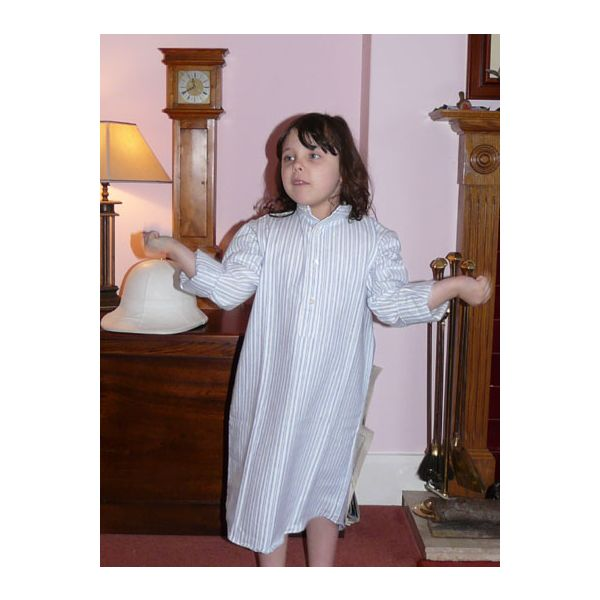 Blue Children's Brushed Cotton Nightshirt by Magee of Donegal