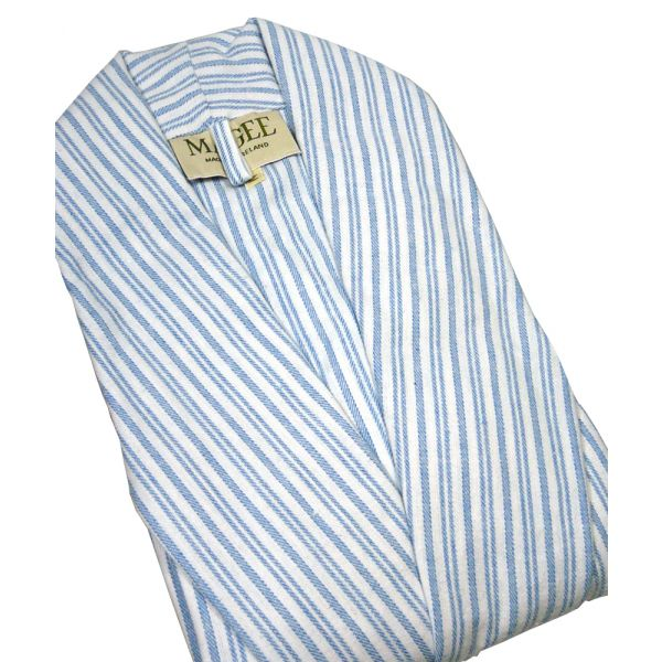 Blue Stripe Dressing Gown from Magee of Donegal
