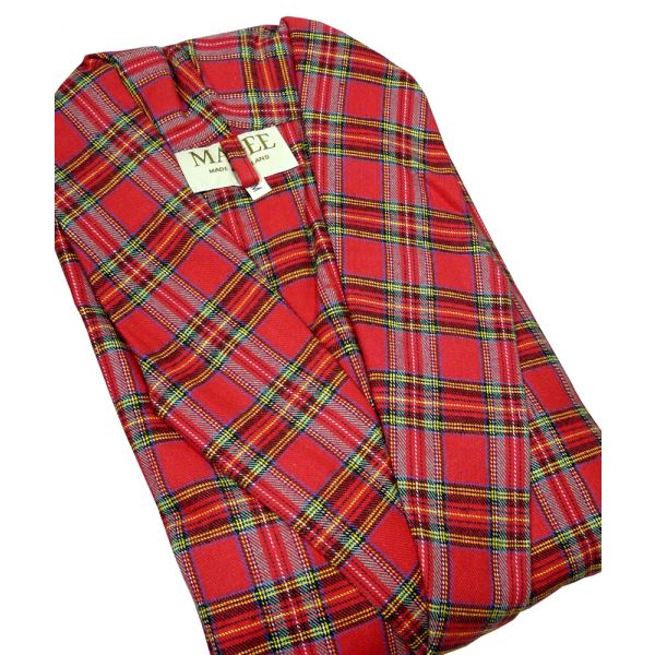 Royal Stewart Tartan Dressing Gown from Magee of Donegal