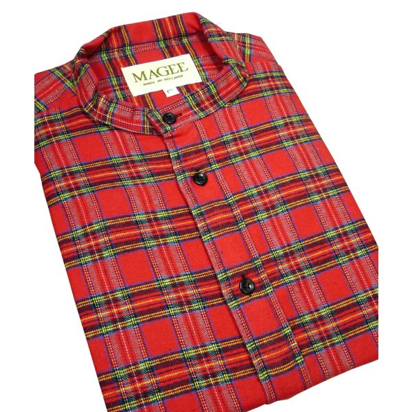 Royal Stewart Cotton Grandad Shirt from Magee