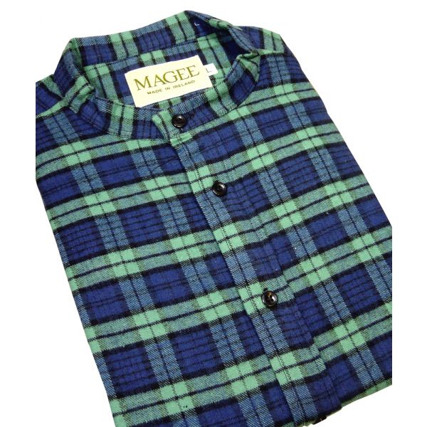 Blackwatch Check Cotton Grandad Shirt from Magee