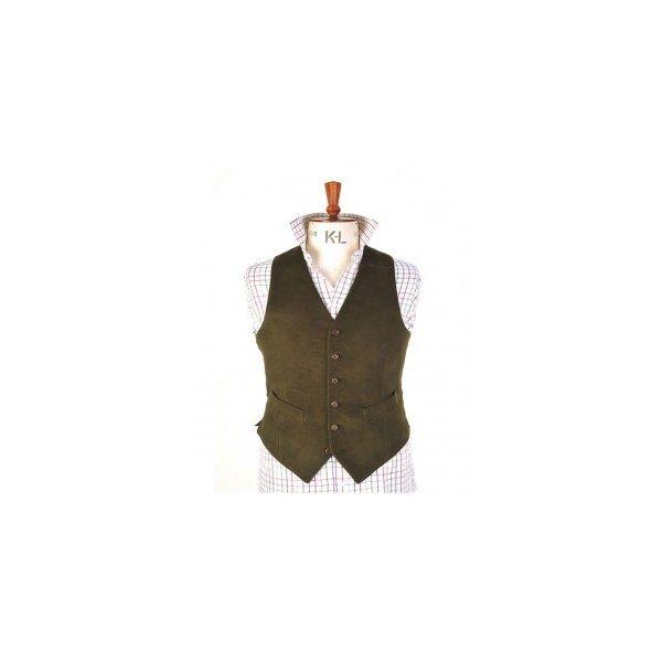 Lovat Green Moleskin Waistcoat from Magee of Donegal-40