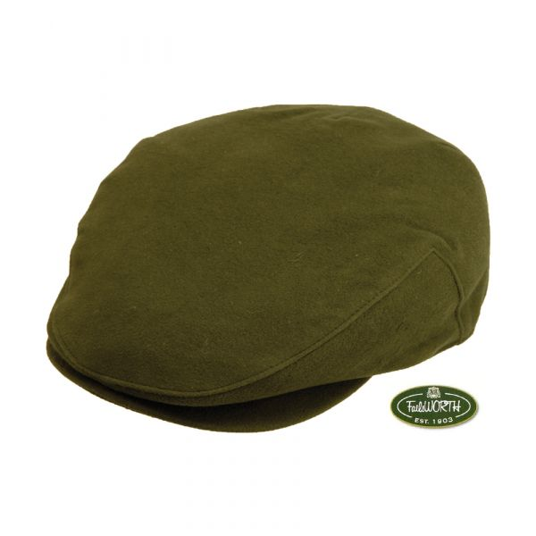 Olive Moleskin Cap from Failsworth Hats