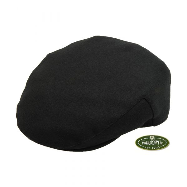 Black Melton Cap from Failsworth Hats