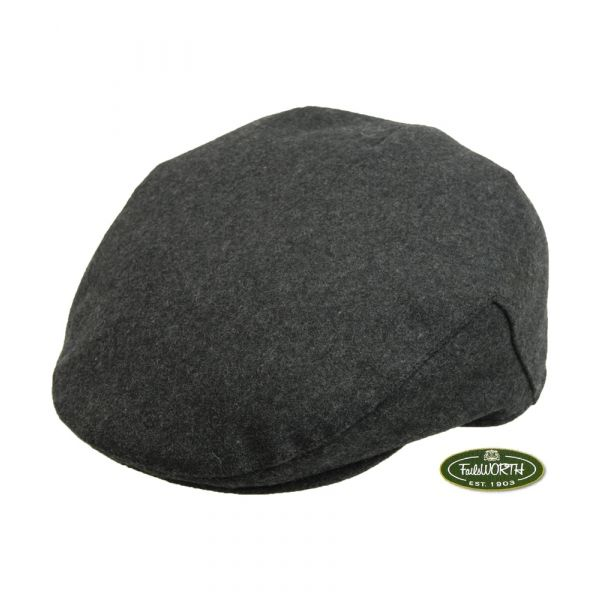 Grey Melton Cap from Failsworth Hats
