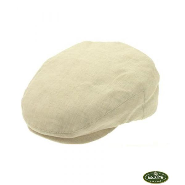 Linen Mix Cap in Natural from Failsworth Hats