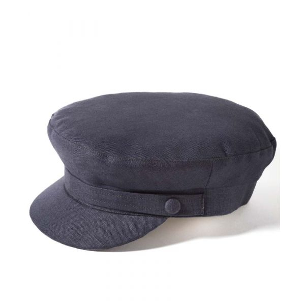 Mariner Cap in Navy Linen from Failsworth Hats