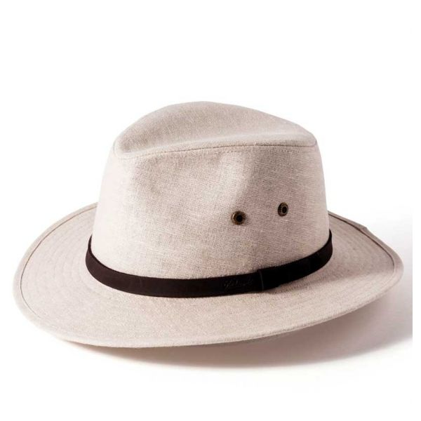 Natural Linen Safari Hat from Failsworth Hats