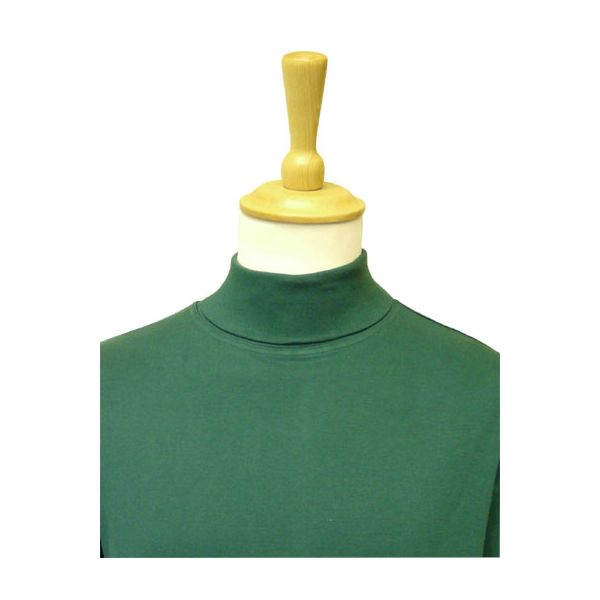 Bottle Green Cotton Rollneck Sweater