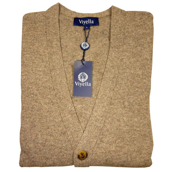 Fawn Lambswool Cardigan from Viyella