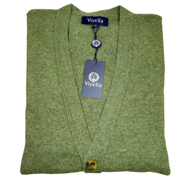 Lovat Green Lambswool Cardigan from Viyella