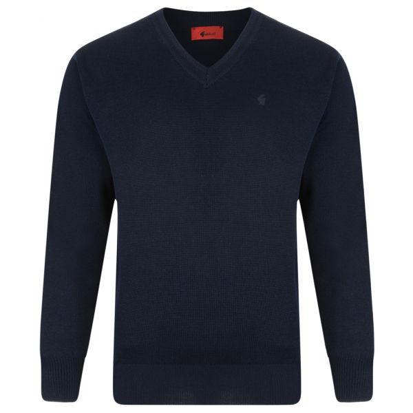Gabicci V Neck Jumper in Navy
