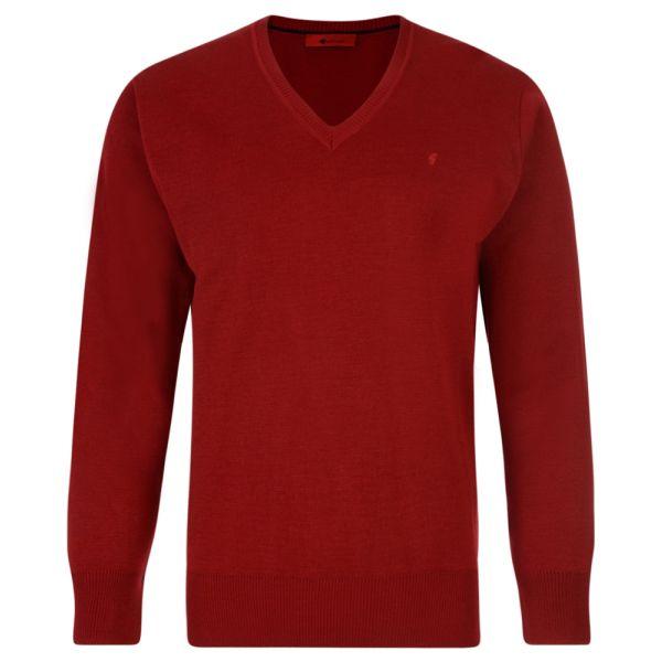 Gabicci V Neck Jumper in Red