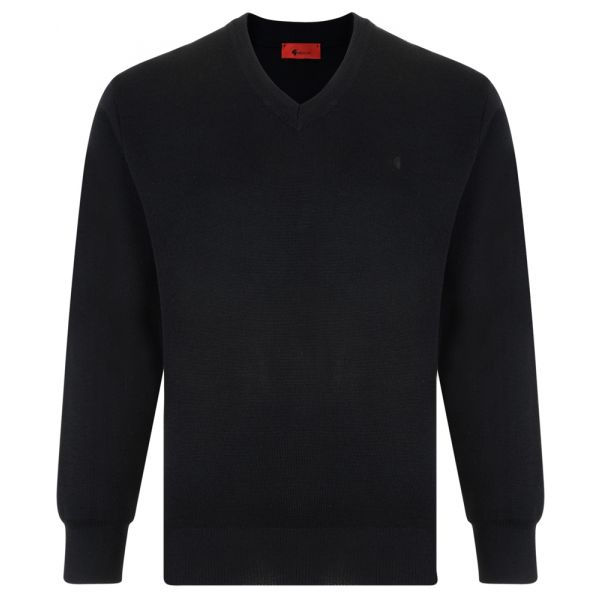 Gabicci V Neck Jumper in Black