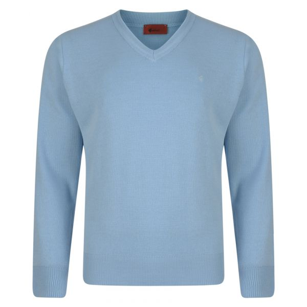 Gabicci V Neck Jumper in Sky Blue