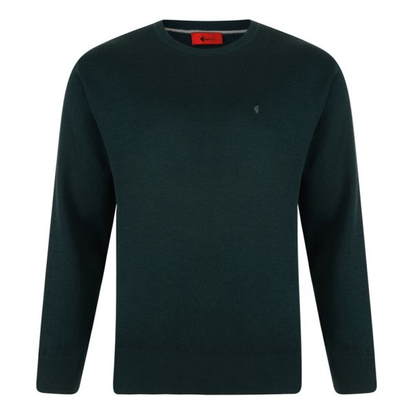 Gabicci Crew Neck Jumper in Bottle Green