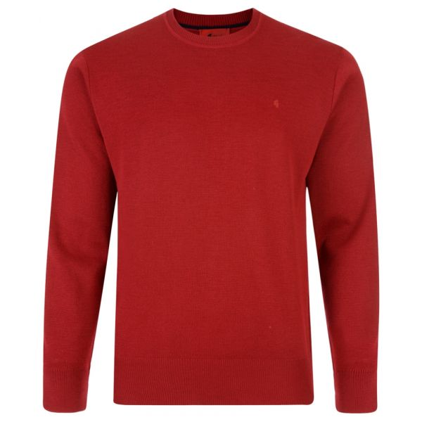 Gabicci Crew Neck Jumper in Red