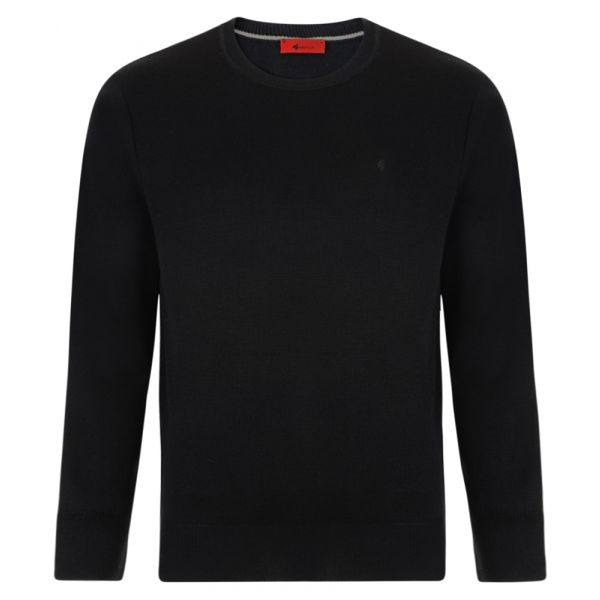 Gabicci Crew Neck Jumper in Black