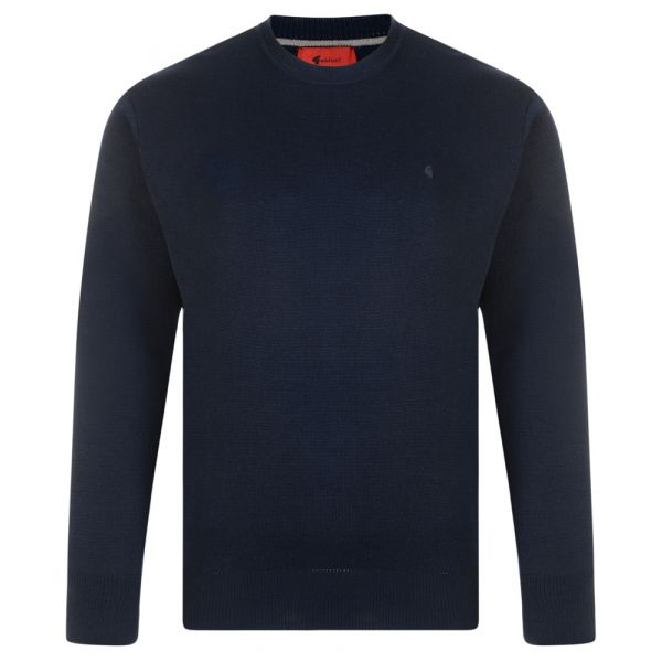 Gabicci Crew Neck Jumper in Navy Blue