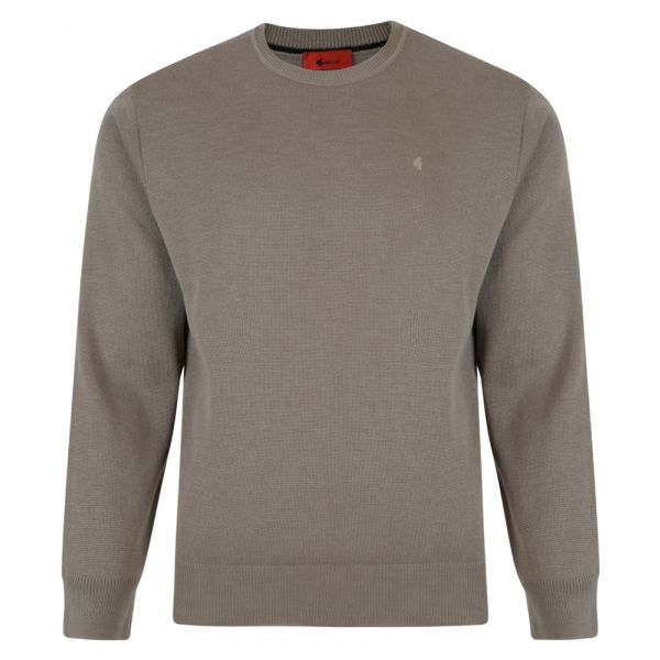 Gabicci Crew Neck Jumper in Stone