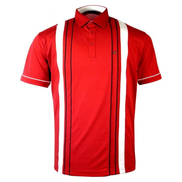 Classic Gabicci Polo Shirt in Lava Red Design