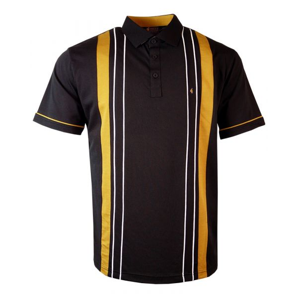 Classic Gabicci Polo Shirt in Black Design