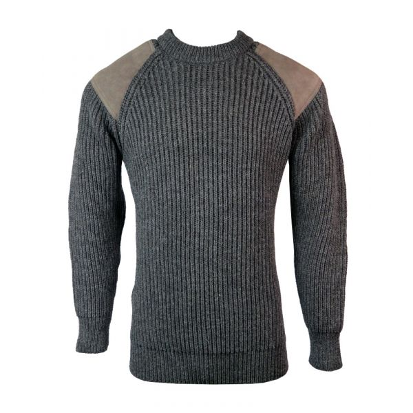 Countryman - Pure Wool Sweater in Dark Grey from The Richmond Range by Crystal Knitwear