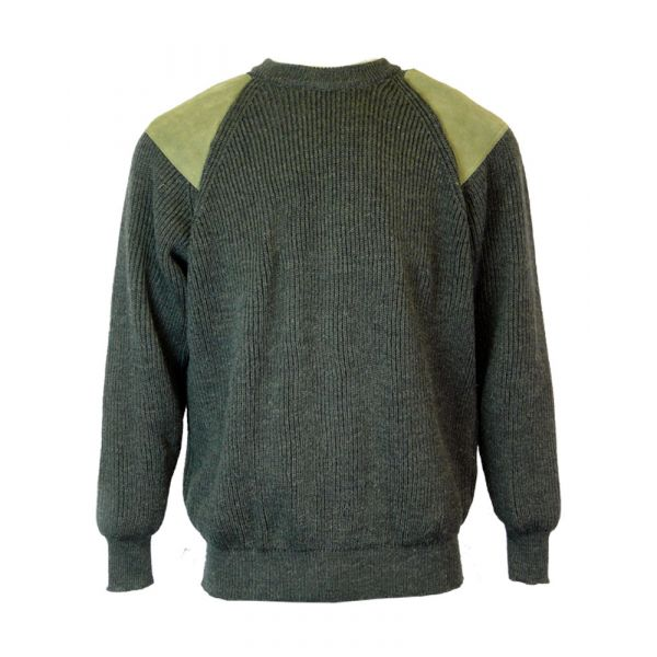 Rambler - Pure Wool Sweater in Moss Green from The Richmond Range by Crystal Knitwear