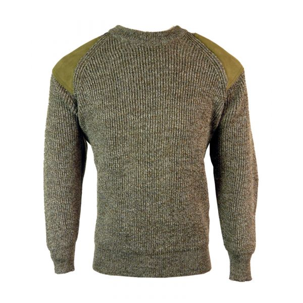 Rambler - Pure Wool Sweater in Derby Tweed from The Richmond Range by Crystal Knitwear