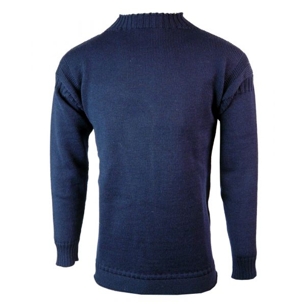 Guernsey - Pure Wool Sweater in Navy from The Richmond Range by Crystal Knitwear